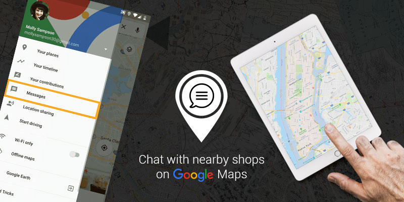 Now you can chat with businesses directly through Google map